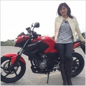 バイクも乗れる中田有紀